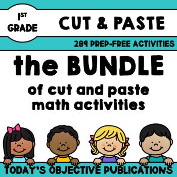First Grade Math Bundle (Cut and Paste)