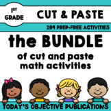 First Grade Math Bundle (Cut and Paste)