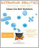 First Grade Math Bundle for Students with Visual Impairments