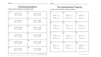 First Grade Math CCSS 1.oa.1 - 1.oa.4