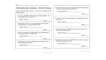 Bundle!  Adding and Subtracting to 20 Worksheets