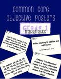 First Grade Math CCSS Objectives