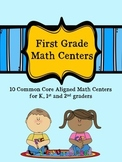 First Grade Math Centers- Distance Learning