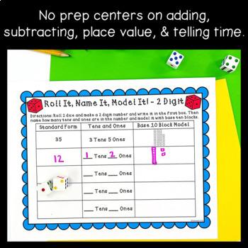 Independent Dice Math Center Games! ~NO PREP!~ Distance Learning Digital Option