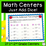 Dice Math Center Games! ~NO PREP!~ Add, Subtract, Place Va