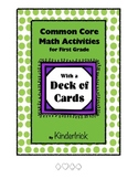 First Grade Math Center Using a Deck of Cards- Common Core Aligned