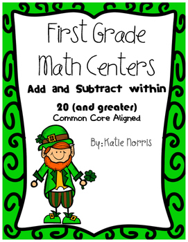 First Grade Math Centers-Add and Subtract Within 20 {and greater}