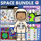 First Grade Math Centers Addition BUNDLE Astronomy Space Theme