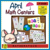 First Grade Math Centers--April