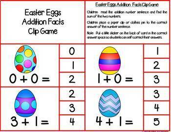 First Grade April Math Centers: Math Facts, Ten Frames, Number Order & More