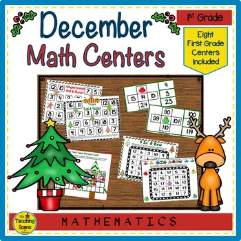 First Grade Math Centers--December