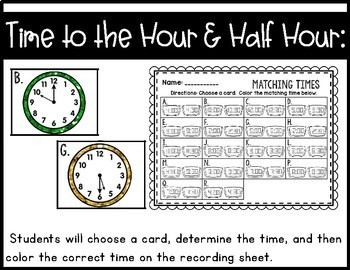 First Grade Math Centers~ For any Theme