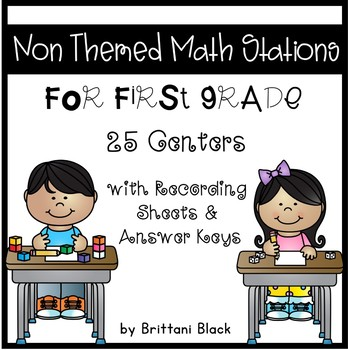 Non Themed Math Stations for First Grade