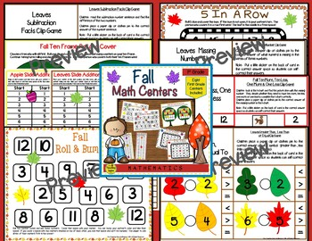 First Grade Math Centers Four Seasons Bundle