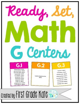 First Grade Math Centers - Geometry & Fractions (G) Centers