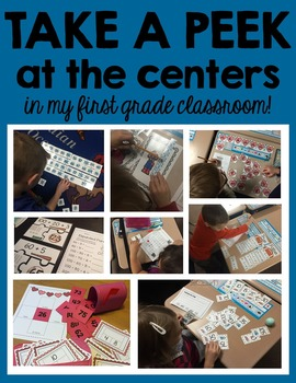First Grade Math Centers Full-Year Bundle