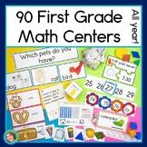 First Grade Math Centers Year Long Bundle