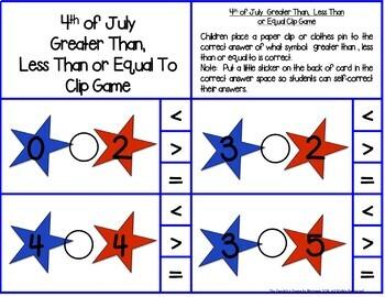 First Grade Math Centers--July