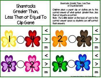 First Grade March Math Centers: Math Facts, Ten Frames, Number Order & More