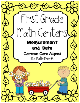 First Grade Math Centers-Measurement, Time, and Data
