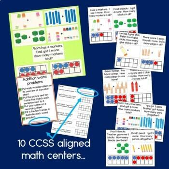 First Grade Math Centers Month 1
