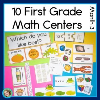 First Grade Math Centers Month 3