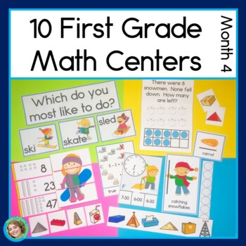 First Grade Math Centers Month 4