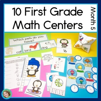 First Grade Math Centers Month 5