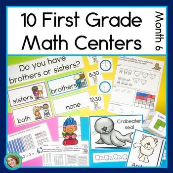 First Grade Math Centers Month 6