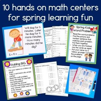 First Grade Math Centers Month 7