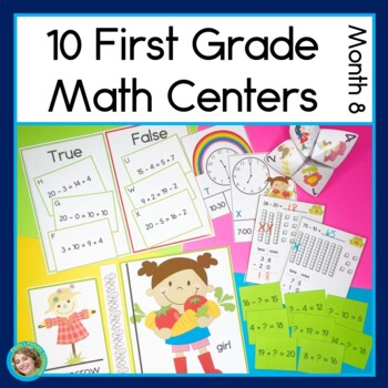 First Grade Math Centers Month 8