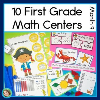 First Grade Math Centers Month 9