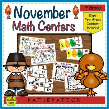 First Grade Math Centers--November
