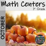 First Grade Halloween Math Centers October