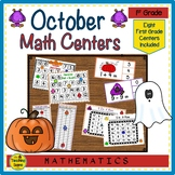 First Grade Math Centers--October