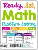 First Grade Math Centers - Problem Solving Tasks