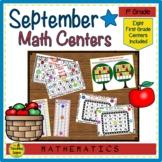 First Grade Math Centers:  September