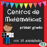 First Grade Math Centers - Spanish