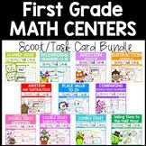 First Grade Task Cards Math BUNDLE