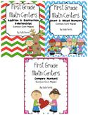 First Grade Math Centers-Winter Bundle