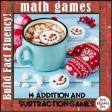 Addition and Subtraction Games: Winter Theme