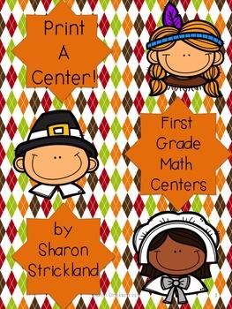 First Grade Math Centers for November