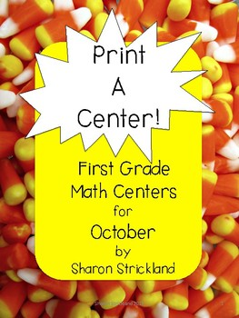 First Grade Math Centers for October