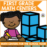 First Grade Math Centers for the Year Bundle