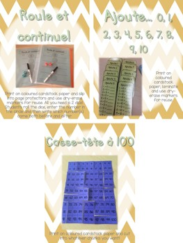 First Grade Math Centres BUNDLE {French}