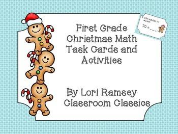 First Grade Math Christmas Activity Packet