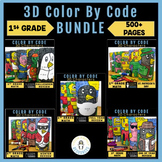 First Grade Math | Color By Code BUNDLE