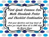 First Grade Math Common Core Checklist Posters
