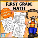 First Grade End of the Year Math Review Worksheets with Boom Cards
