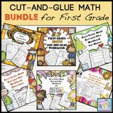 First Grade Math Worksheets BUNDLE | 10 More 10 Less & Boom Cards